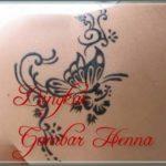 model henna kupu kupu