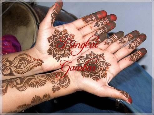 motif henna bunga simple