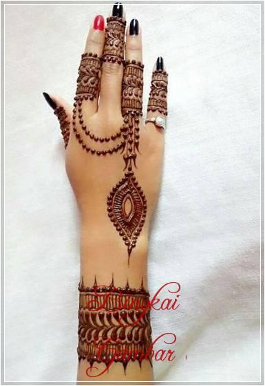 motif henna cincin simple