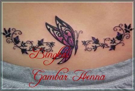 motif henna gambar kupu kupu