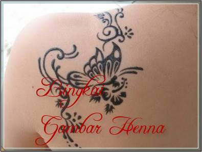 motif henna kupu kupu