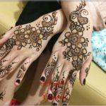 motif henna pengantin bunga
