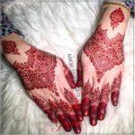 motif henna pengantin sederhana