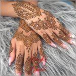 motif henna pengantin simple
