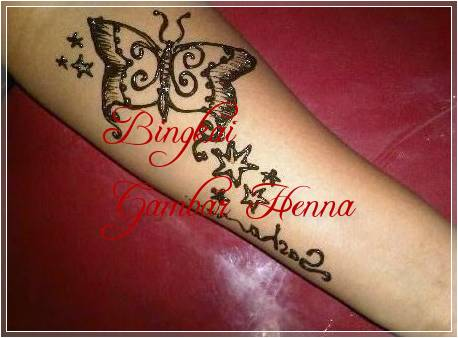motif henna tangan hewan