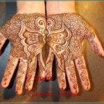 motif henna tangan kupu kupu