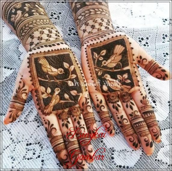motif motif henna pengantin