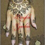 pola henna bunga simple
