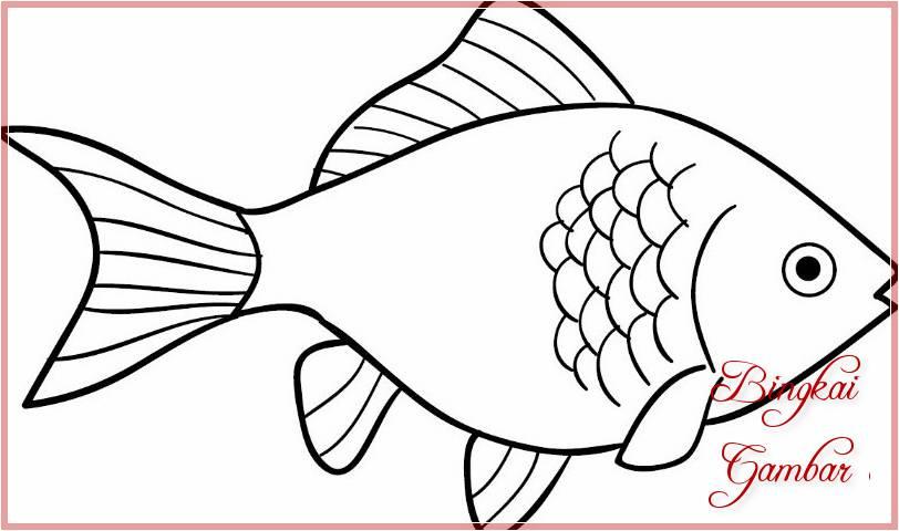 Sketsa Gambar Kolase Ikan Sobsketsa Classycloud Co
