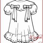 Gambar Sketsa Baju Anak