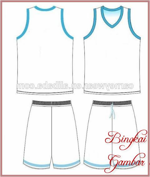 Gambar Sketsa Baju Basket