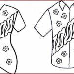 Gambar Sketsa Baju Batik