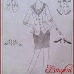 Gambar Sketsa Baju Kerja Wanita