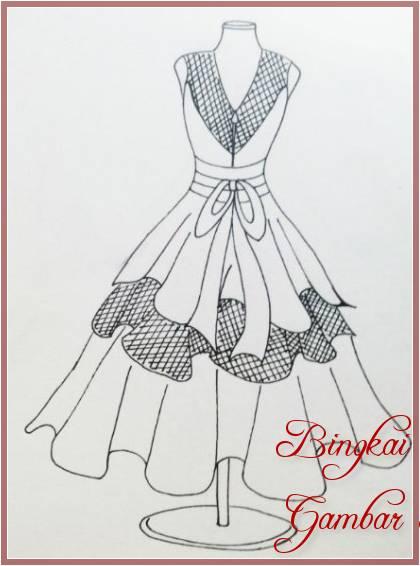 Gambar Sketsa Baju Modern