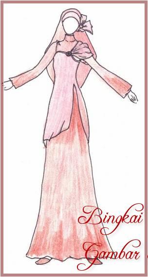 Gambar Sketsa Baju Perempuan