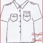 Gambar Sketsa Baju Sekolah