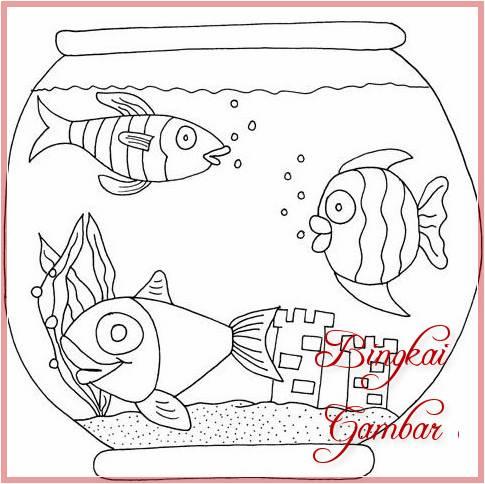 26 Gambar Sketsa Ikan Untuk Di Warnai Dan Mudah Di Tiru