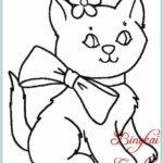 Gambar Sketsa Kucing Yang Mudah