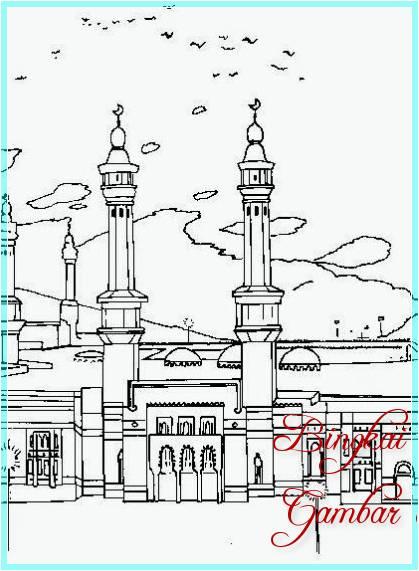 Gambar Sketsa Masjid Nabawi
