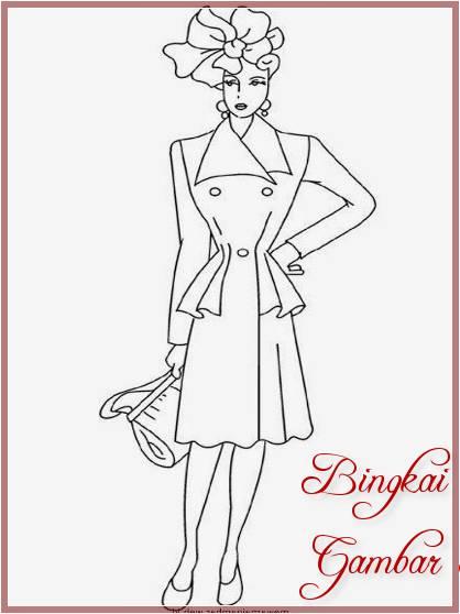 Gambar Sketsa Model Baju