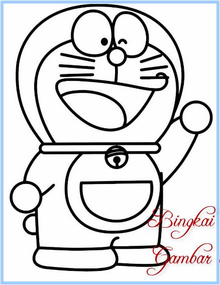 Sketsa Gambar Boneka Doraemon