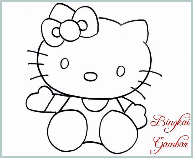 Sketsa Gambar Boneka Kucing
