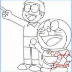 Sketsa Gambar Doraemon Dan Nobita