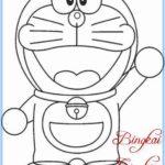 Sketsa Gambar Doraemon Mudah