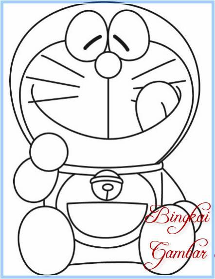 Sketsa Gambar Doraemon Yang Mudah