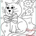 Sketsa Gambar Kucing Yang Mudah