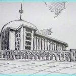 Sketsa Gambar Masjid Istiqlal