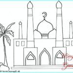 Sketsa Kaligrafi Masjid