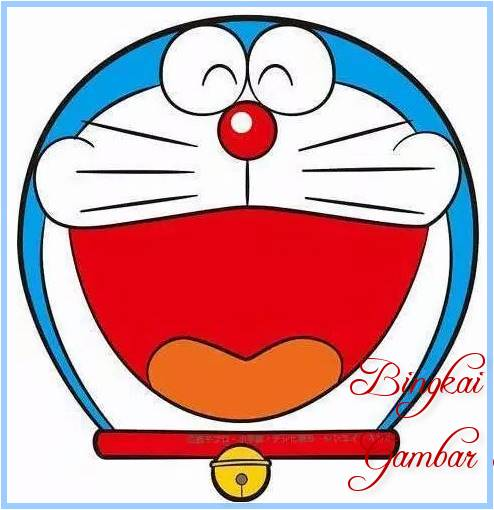 Sketsa Kepala Doraemon Berwarna