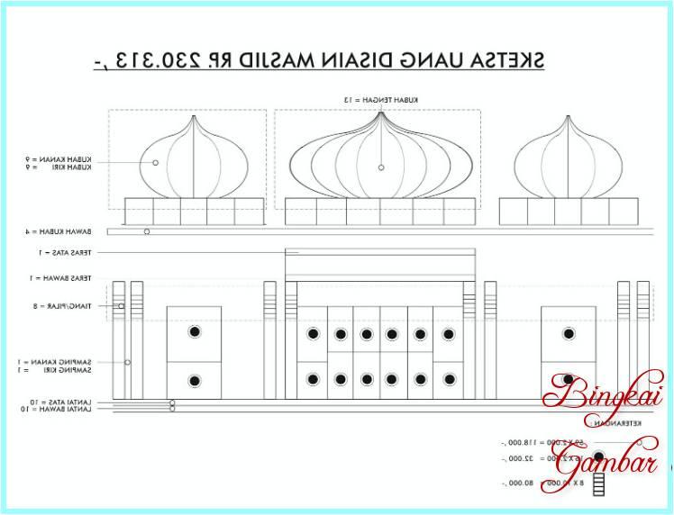 Sketsa Mahar Masjid