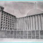 Sketsa Masjid Istiqlal Jakarta