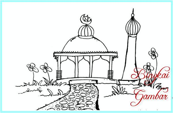Sketsa Masjid Kecil