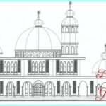 Sketsa Masjid Kubah Emas