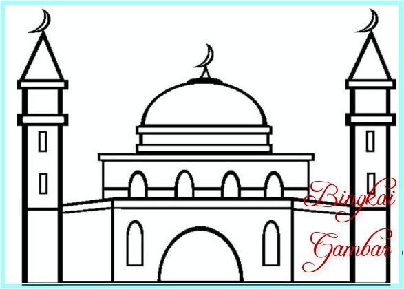 Sketsa Masjid Mudah