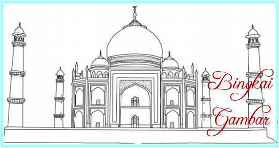 Sketsa Masjid Untuk Diwarnai