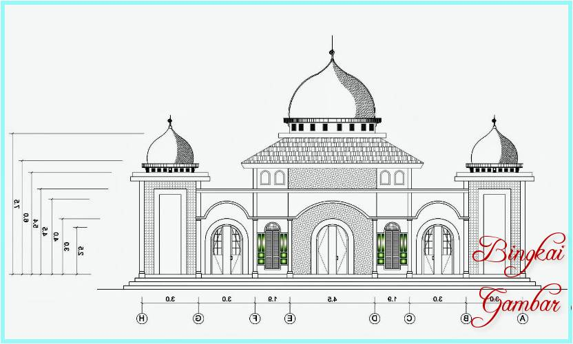 Sketsa Masjid Yang Bagus
