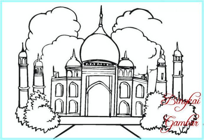 Sketsa Membuat Masjid