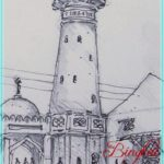 Sketsa Menara Masjid