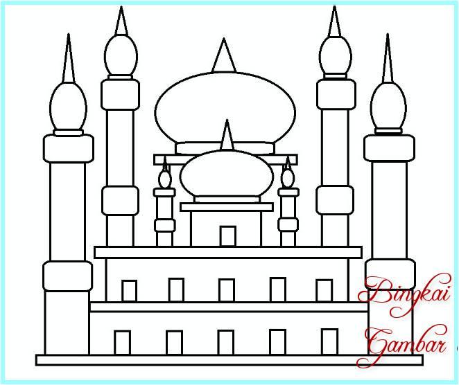 Sketsa Menggambar Masjid