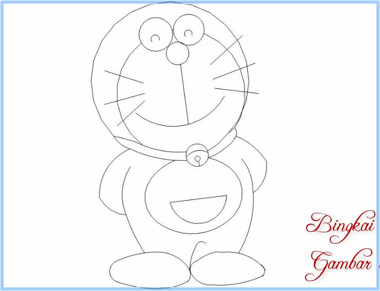 Sketsa Mewarnai Doraemon