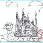 Sketsa Pemandangan Masjid