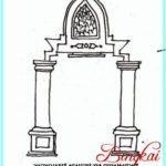 Sketsa Pintu Masjid