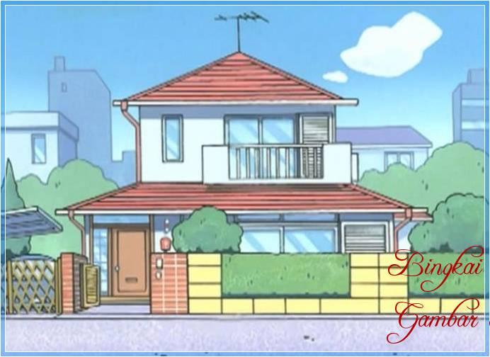Sketsa Rumah Doraemon