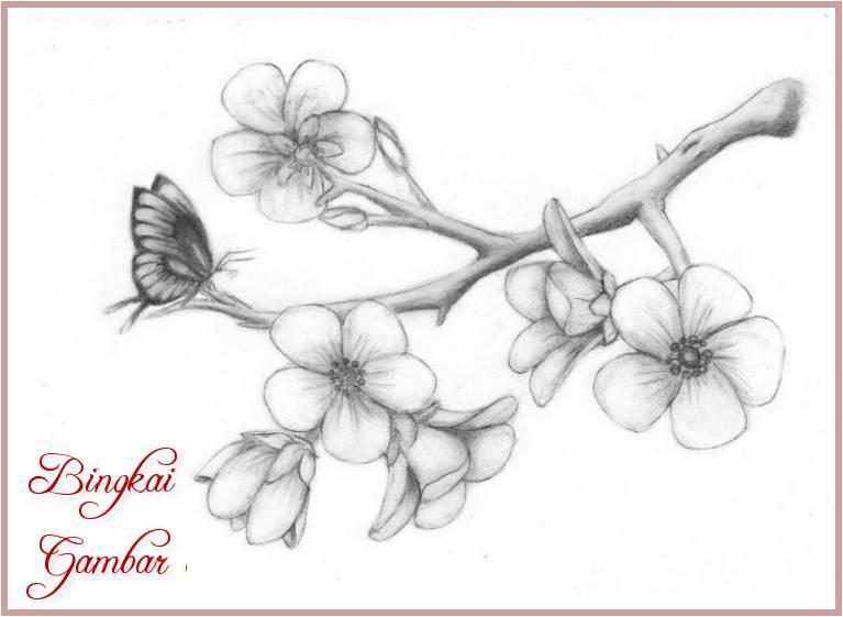 Contoh Gambar Sketsa Bunga Simple