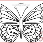 Contoh Sketsa Batik Kupu Kupu