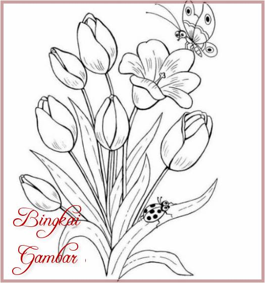 Gambar Bunga Indah Sederhana